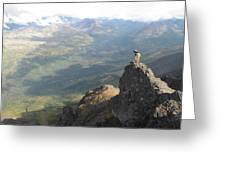 Backpackers Hike In Chugach State Park Greeting Card