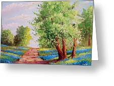 Backroad Bluebonnets Greeting Card