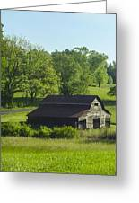 Backroads Barn Greeting Card by Robert J Andler