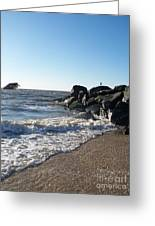 Backwash On Sunset Beach Cape May Greeting Card