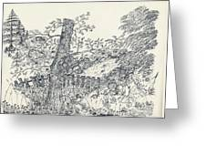 Backyard Peace Greeting Card