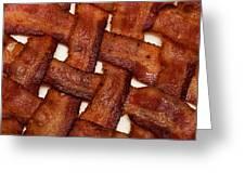 Bacon Weave Square Greeting Card