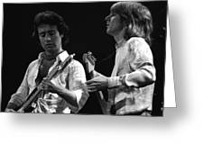 Bad Company At Work In 1977 Greeting Card