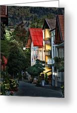 Bad Hindelang Austria At Dusk Greeting Card
