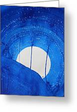 Bad Moon Rising Original Painting Greeting Card