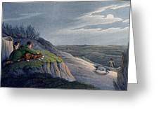 Badger Catching, 1820 Greeting Card