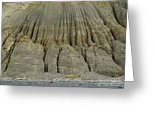 Badland Erosion Of Soft Conglomerate Sediment Greeting Card