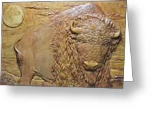 Badlands Bull Greeting Card