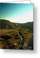 Badlands Coulee Greeting Card