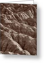 Badlands Light Bw Greeting Card