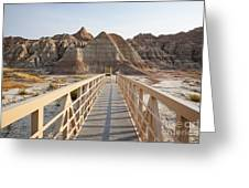 Badlands Walkway Greeting Card