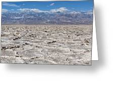 Badwater Basin - Death Valley Greeting Card
