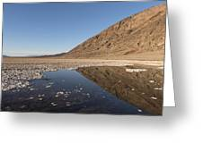 Badwater Basin In Death Valley National Park In Inyo County Greeting Card