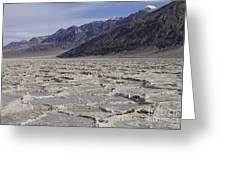 Badwater Basin Vista Greeting Card