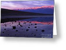 Badwater Death Valley Greeting Card