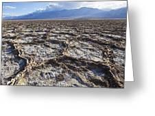 Badwater - Panoramic Greeting Card