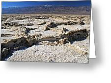 Badwater Telescope Peak Extremes   Greeting Card