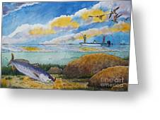 Fishing Baffin Bay Texas  Greeting Card