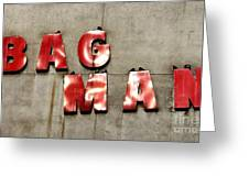 Bag Man Greeting Card
