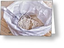 Bag Of Flour With Scoop Greeting Card