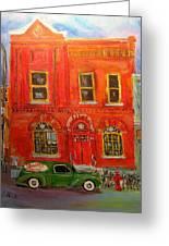 Bagg Street Shul Greeting Card by Michael Litvack