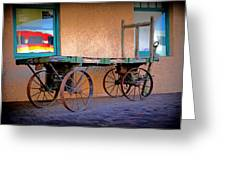 Baggage Cart Greeting Card