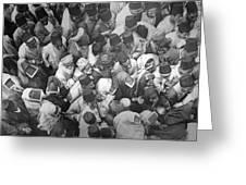 Baghdad Crowd Greeting Card