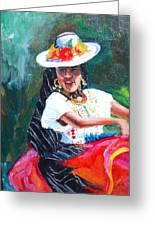 Baile De Michoacan Greeting Card
