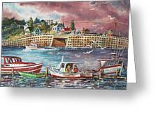 Bailey Island Cribstone Bridge Greeting Card by Joy Nichols