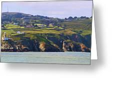 Baily Lighthouse Panorama 1 Greeting Card