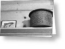 Bait Bucket And Fish Greeting Card