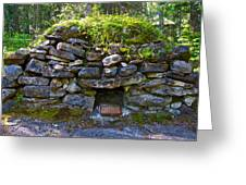 Bake Oven From 1884-5 In  Kicking Horse Campground In Yoho Np-bc Greeting Card