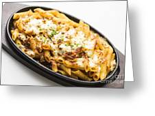 Baked Pasta With Meat And Cheese Greeting Card