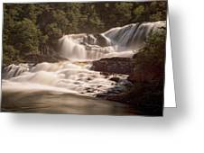 Bakers Brook Falls Greeting Card