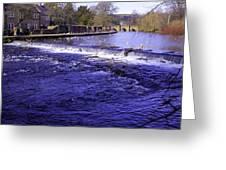 Bakewell Weir Greeting Card