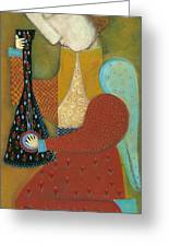 Balalaika Angel Greeting Card