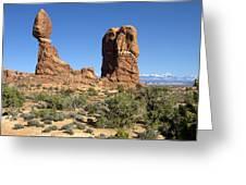 Balanced Rock Arches National Park Utah Greeting Card