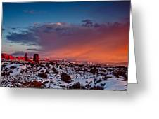 Balanced Rock At Sunset Greeting Card
