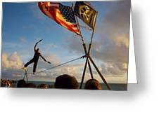 Balancing Act In Key West Greeting Card