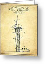 Balancing Of Wind Turbines Patent From 1992 - Vintage Greeting Card