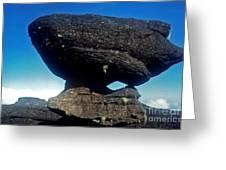 Balancing Rock Greeting Card by Steven Valkenberg