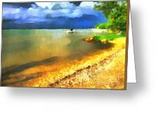 Balaton Shore Greeting Card