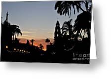 Balboa At Sunset  Greeting Card