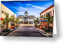 Balboa Main Street In Newport Beach Picture Greeting Card by Paul Velgos