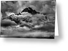 Balck And White Tantalus Peaks Greeting Card