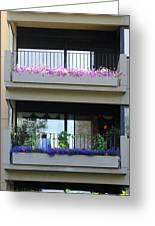 Balconies 4 Greeting Card