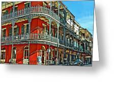 Balconies Painted Greeting Card