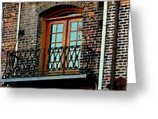Balcony Doors Greeting Card