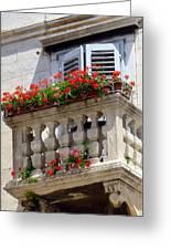 Balcony In Split Croatia Greeting Card