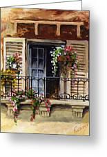 Balcony Of Ferrara Greeting Card